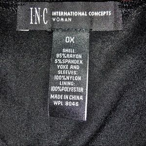 """51248a6a0ee INC International Concepts Tops - """"Luxe"""" Sheer Mesh Tunic with Rhinestones  — BLACK"""